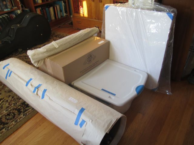 artwork all boxed up and ready to go