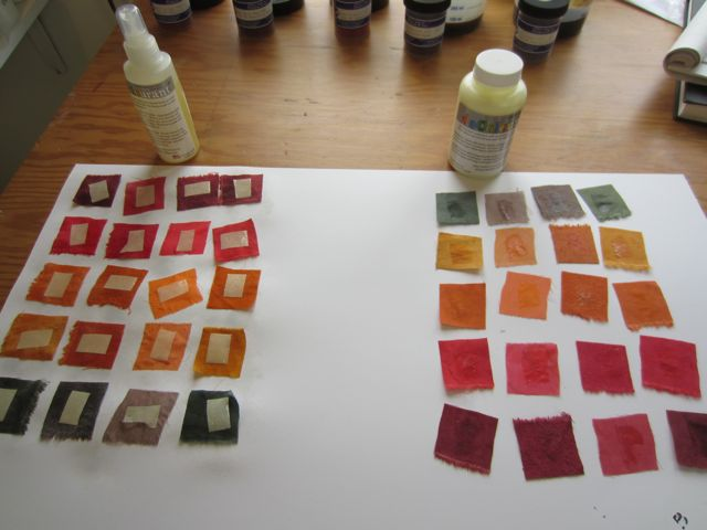 testing Decolourant spray and paste