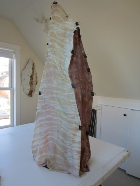 draped piece, front
