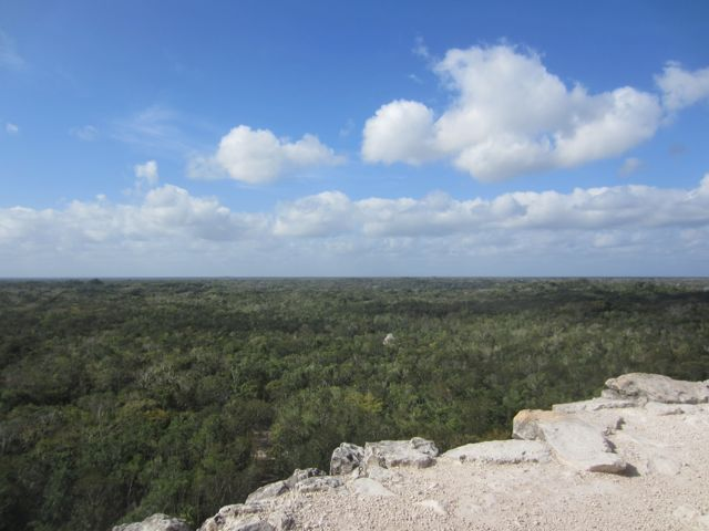 the view from the top of Nohoch Mul