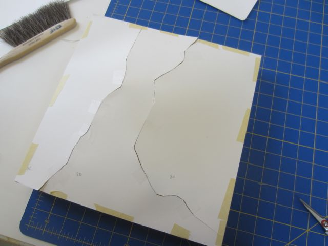 Making patterns in paper