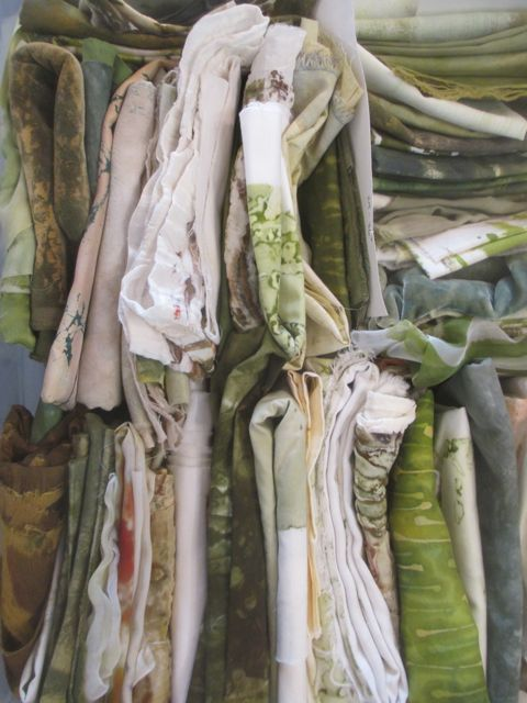 "one ""palette"" of fabrics for Driftwood series"