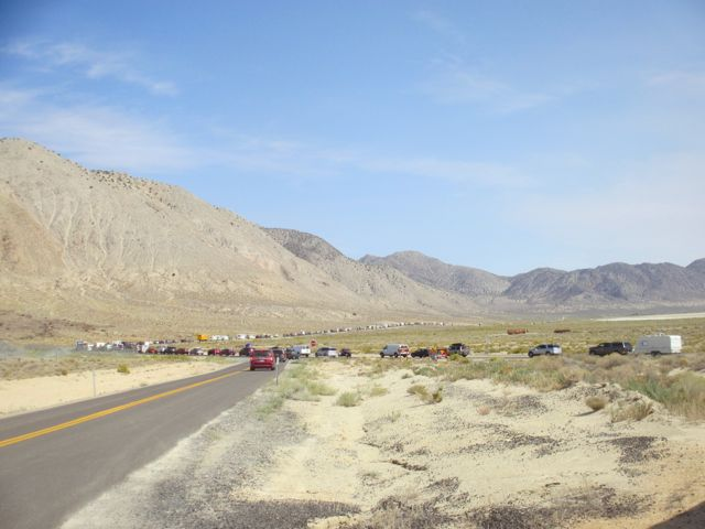 The road leading to Burning Man
