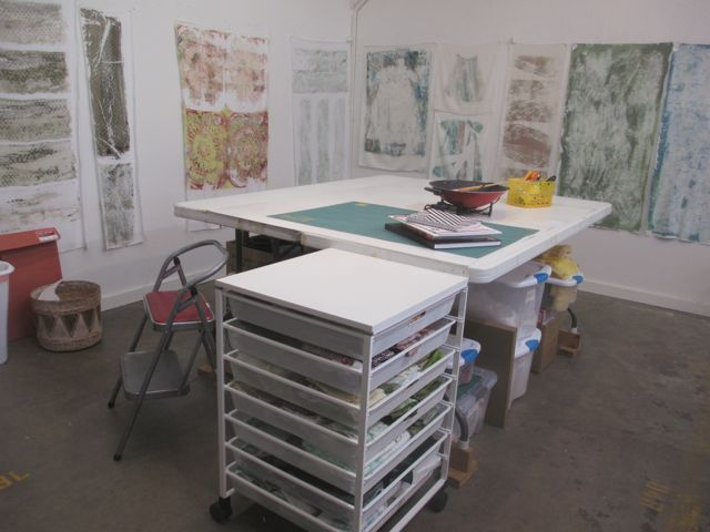 The studio, all cleaned and organized and ready for a new year!